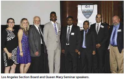 Los Angeles Section Board and Queen Mary Seminar speakers
